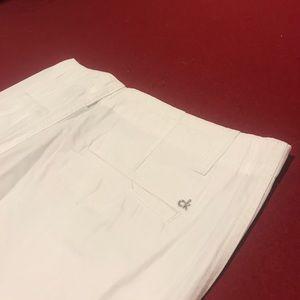 Men's white Calvin Klein shorts